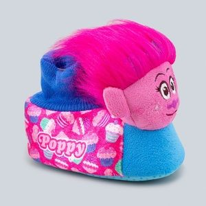 Toddler Girls' Trolls Poppy Bootie Slipper - Pink
